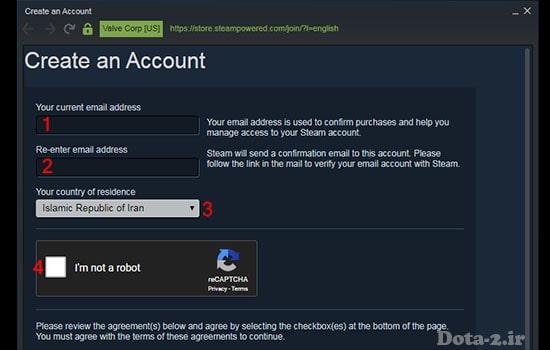 create steam account